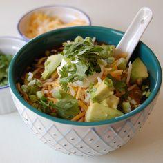 """Vegetarian Tortilla Soup #vegetarian take out the dairy """"fixins"""" to make it #vegan"""