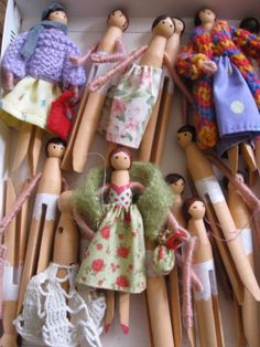 Crafts: Clothes Pin People.