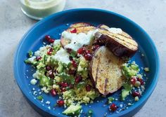 Grilled Eggplant with Couscous and Greek Yogurt Dressing | Vegetarian Times