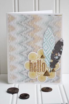 Embossed Vellum Card by Aly Dosdall card vellum, card inspir, emboss card, vellum card
