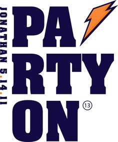 Love this logo for a sports themed event inspired by Gatorade.  Logo by Party Favorites