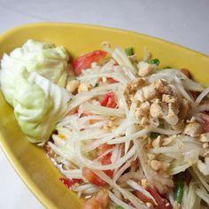 Thai spicy papaya salad recipe - aka Som Tam! Delicious and healthy!
