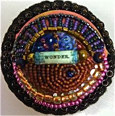 One of Beth Handley's cool hand beaded pins