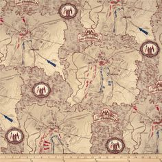 Gettysburg Gettysburg Map Dark Tan