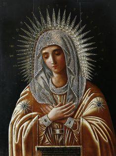 Beautiful icon of Our Lady. #God #Catholic #Christianity #Virgin #Orthodox #devotion #prayer #art #icons