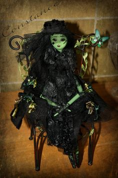 OOAK Hand Sculpted Polymer Clay Art Doll  Ghost by EnchantMebyLisa, $65.00