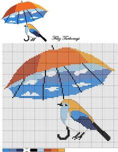 Kuş Seri Desen: 4 ( Bird Series: 4 ) Designed by Filiz Türkocağı