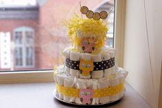 Owl Baby Shower Diaper Cake -- owls by Pinwheel Lane on etsy