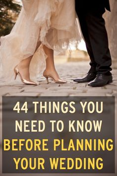 Everything you need to know to plan your wedding