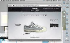Converse ID. Very cool - cheaper than Nike ID, website not so user friendly though. After 3 attempts I suggest sticking to a palate of 3 colours.