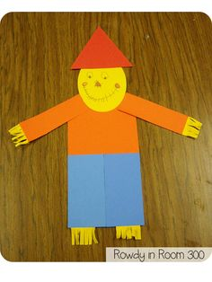 Shapes scarecrows