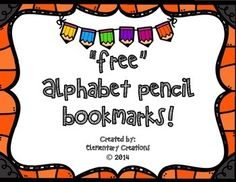 Love FREEBIES? Come and download my bookmarks!! Free Alphabet Pencil Bookmark!   Don't forget to leave me feedback! :)