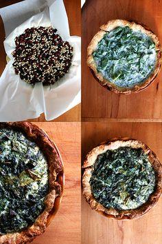 quiche dough (tart dough); blind baking