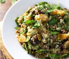 Winter Salads That Will Keep You Full: Moroccan Salad With Orange Cilantro Dressing #SelfMagazine