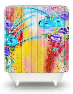 Artistic Shower Curtains by DiaNoche Designs, Sea Life