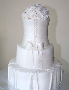 Love the different effects on this cake.