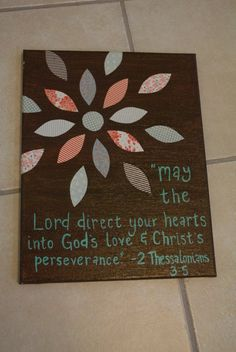 Bible Verse Painted Canvas 2 Thessalonians 3 5 by TheSaltyLight
