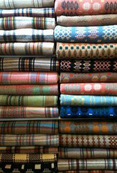 vintage welsh wool blankets