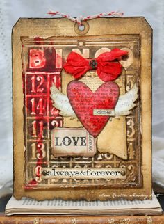 Crafting ideas from Sizzix UK: Valentine tag....
