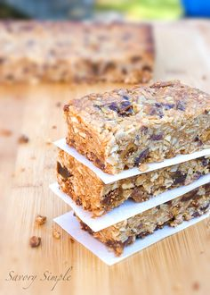 U is for Unprocessed! Gluten-Free Vegan Granola Bars
