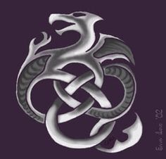 Celtic Dragon Knot by ~piraterin