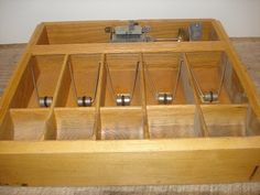 Vintage Oak Cash Register Draw Tray