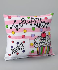 cute tooth fairy pillow idea tooth fairy, tooth fairi, cupcakes, tooth pillow, dental care, bows, cupcak person, person tooth, kid