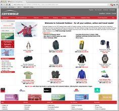 Cotswold Outdoor - 2006 website screenshot