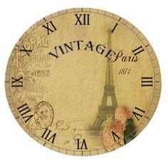 . printiesprint label, vintag clock, clock face