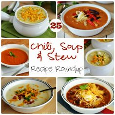 25 Must-Make Soup, Chili & Stew Recipes | I love every single one of these recipes - tried and true | Everything from Crock Pot Chili to Cheddar Broccoli soup - hello fall! | www.thecountrycook.net