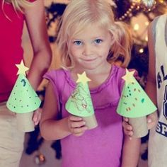Easy Christmas trees - kids craft