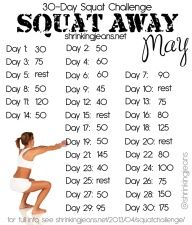 Squat Away May: A 30-Day Squat Challenge monthly workout calendar