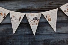 Storybook banner...do this with books that have fallen apart.