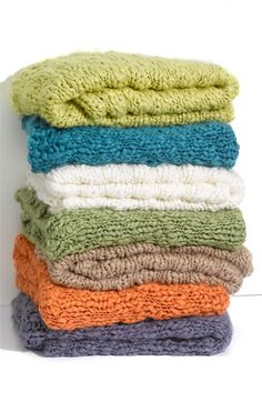 chunky knit blankets, sure would make great gifts.