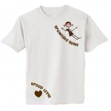 Brownie Girl Scout shirt split to allow the sash to not cover any of the design! #girlscouts Girl Scouts