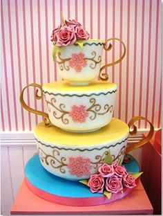 tea time, princess cake, alice in wonderland, wedding cakes, the beast, party cakes, teacup, parti, bridal showers