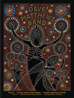 DMB AUSTRALIA 2014   Dave Matthews Band Posters Archives   Methane Studios