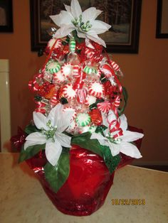 Christmas tree candy bouquet