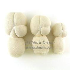 Pre Made Waldorf Doll Head - A Child's Dream Come True. http://www.achildsdream.com/pre-made-waldorf-doll-head/