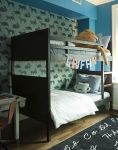 Love this room for a boy and I think I spy our Hold Me Tight pillow!