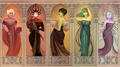 ReBoot Mucha - The Girls (EmpressHelenia) (L-R) Mouse, Witch, Learned, Siren, Saint