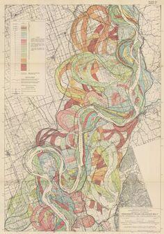 Maps of old flow paths of Missouri River // Louisiana Loses Its Boot — Matter — Medium  https://medium.com/matter/louisiana-loses-its-boot-b55b3bd52d1e