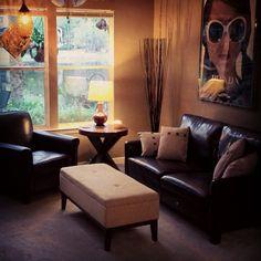"@highoncantaloupeisland: ""Clean home. Happy home."" >> #WorldMarket #Sofa #pillows #ottoman #sidetable"