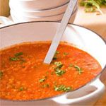 """Homemade tomato soup for a cold winter's night from Mom-a-licious mom, Domenica Catelli."""