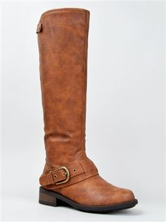 Qupid RELAX-39 Knee High Buckle Riding Boot | Shop Qupid Shoes