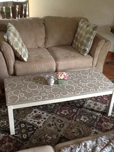 Coffee table re-do. LOVE this idea...but with bolder colors of course