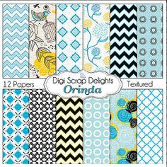 Digital Scrapbooking Orinda DIgital Scrapbook by DigiScrapDelights #Black #Blue #Yellow