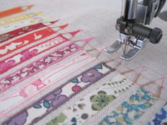 Sewing satin stitch pencil leads