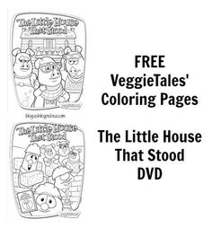 VeggieTales - Little House That Stood Coloring Pages