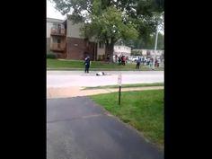 ▶ phone video of Michael Brown shooting - YouTube